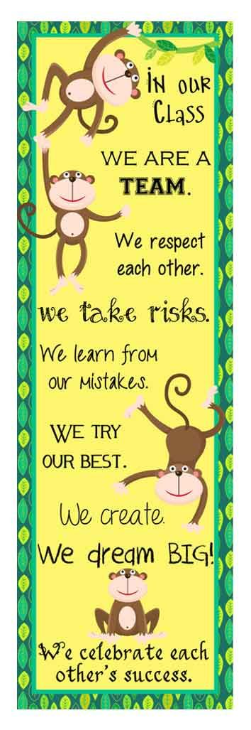 MONKEY theme Classroom Decor, banners, posters, binder covers, clip charts, printables, PowerPoints by ARTrageous FUN on Teachers Pay Teachers