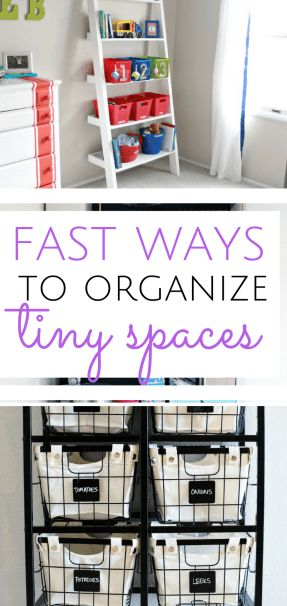 Learn how to organize your tiny spaces in practically no time at all.  Organization, Home Organization, Home Organization ips, Clutter Free Home, Clutter Free Home Decor #Organization #OrganizedHome