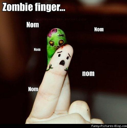 funny zombies | Funny Zombie finger is hungry