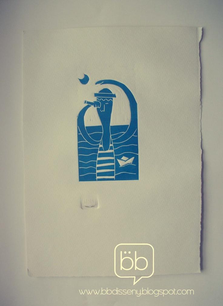 marinero, grabado