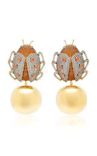 b62b6311e82d7 Lady Beetle Party 24K Gold-Plated Crystal Earrings in 2018 | bijoux ...