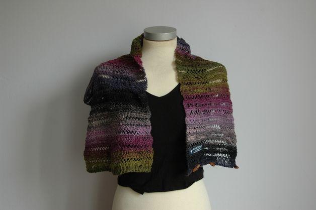 Gebreide sjaals - gebreide sjaal/col - Een uniek product van Annemiek-Hoppenbrouwers op DaWanda