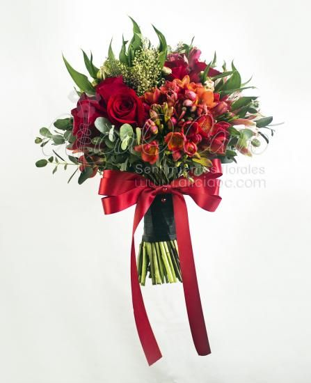 #ramo de novia flores rojas #bouquet #weddingbouquet