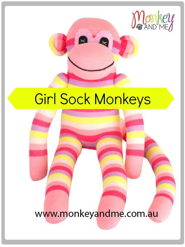 Olivia the Sock Monkey Adopt over at monkeyandme.com.au #sockmonkeys #gifts #toys #sockmonkey