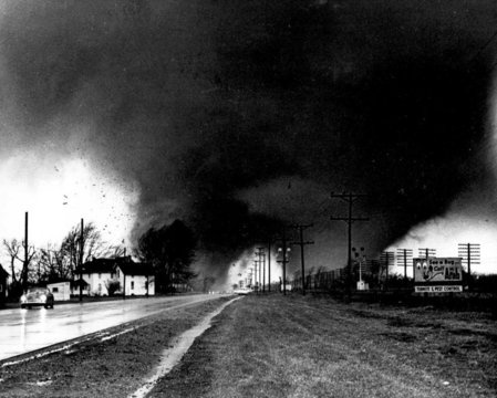 Palm Sunday tornadoes in Indiana, 1965.