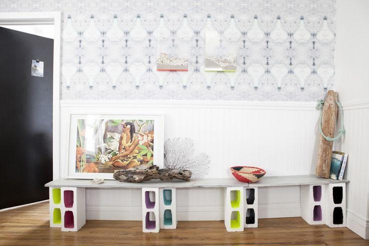 Diseños funcionales de decoración con bloques de concreto - FRACTAL estudio + arquitectura