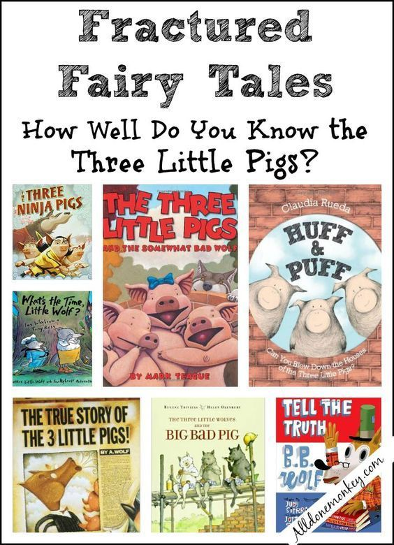 The Three Little Pigs: Fractured Fairy Tales | http://Alldonemonkey.com