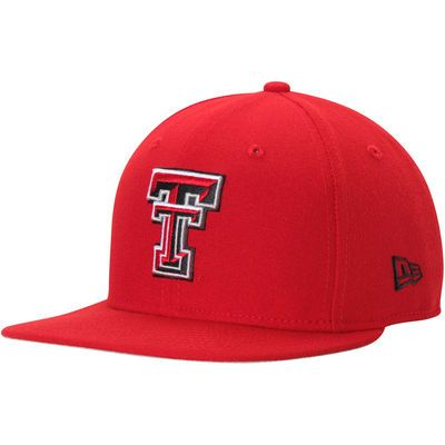 Men's New Era Red Texas Tech Red Raiders State Clip Original Fit 9FIFTY Adjustable Snapback Hat