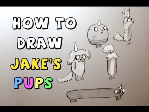 how to draw jake from adventure time