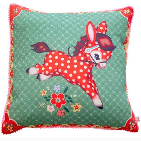 Pillow Cover - Polka Pony