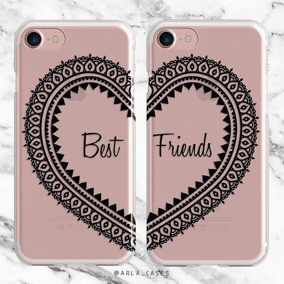 Best Friend Phone Case Set Besties Gift Iphone 7 Case Iphone 6s Plus Case Samsung Galaxy Best Friends Phone Case Bff Phone Cases Iphone Iphone Phone Cases