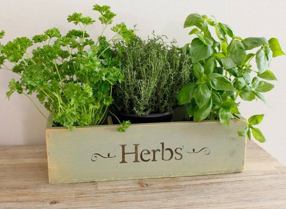 Herb planter window box wooden window box by countrycratesuk