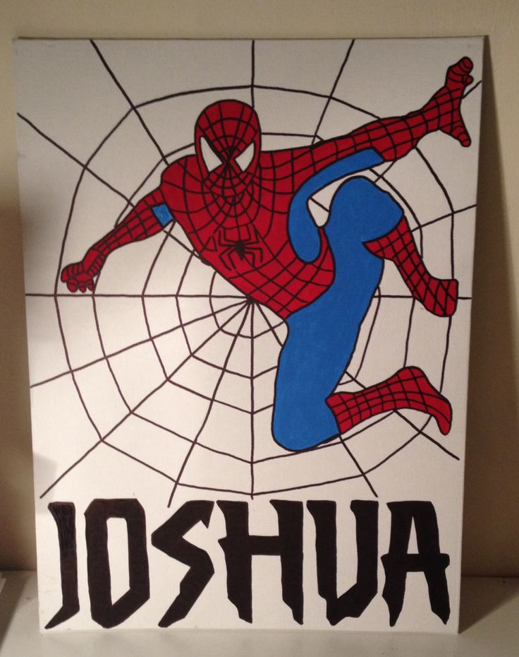Paintings Easy Superhero Canvas