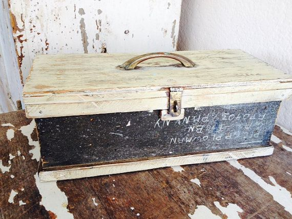 Vintage Antique Wooden Military Box/ Chest/ by SouthamptonVintage