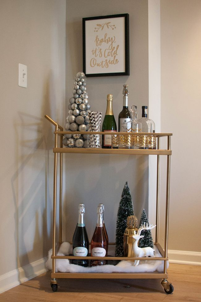 Winter Bar Cart with Minted + Giveaway | Alicia Tenise