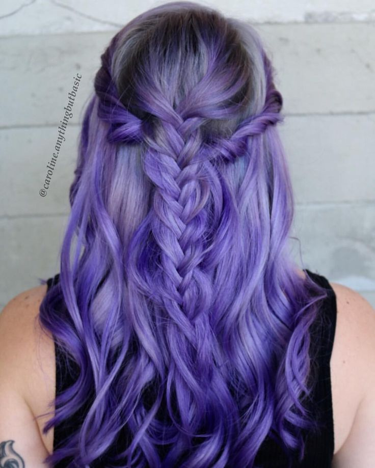 dark purple hair styles best 25 lavender highlights ideas on lavender 1750 | 321422b0d70919cba7798d41fef0eafc long hair colors purple hair colors