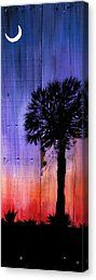 Palmetto Moon Canvas Print by Ashley Galloway
