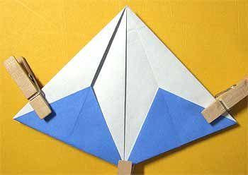 折り紙で富士山の折り方!箸置き正月飾りに簡単立体的な作り方   セツの折り紙処