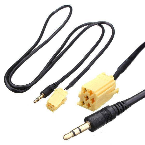 3.5mm Jack AUX Audio Cable Input Adapter For FIAT Grande Punto MP3