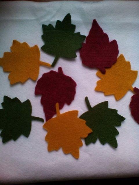 Hojas de otoño en paño lency