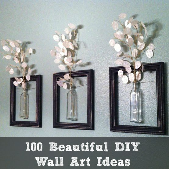 100 Beautiful DIY Wall Art Ideas | DIY Cozy Home Money plants thanks @Codi Maroussi Maroussi Bruner !