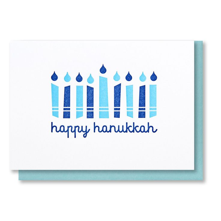 Hanukkah Candles Letterpress Card
