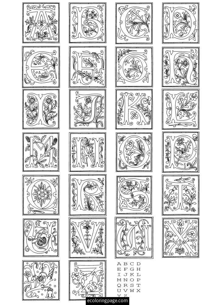 printable letters alphabets coloring page
