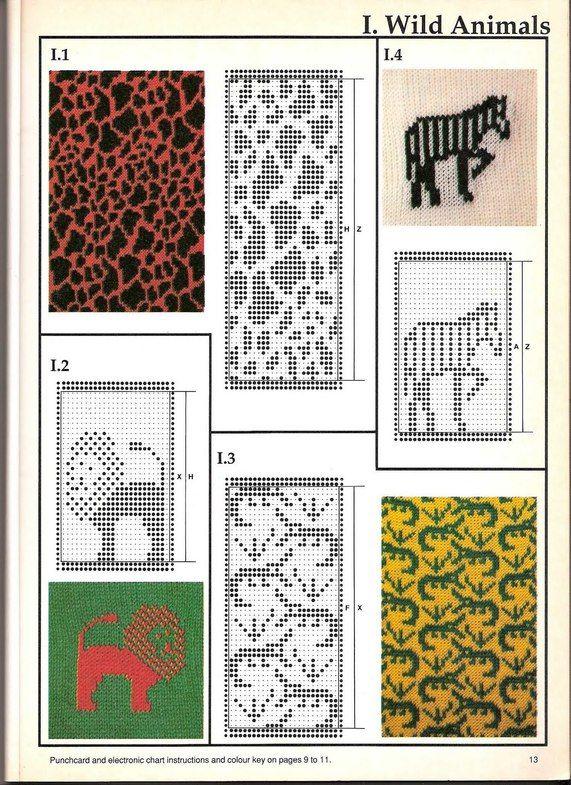 Машинное вязание - жаккард #12