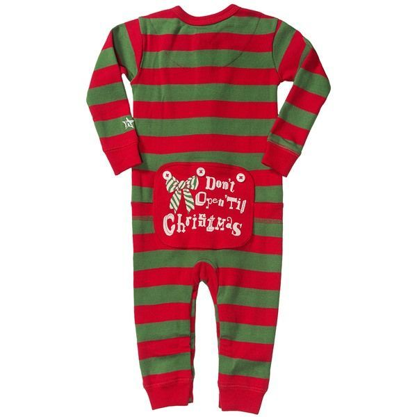 Hatley Union Suit Baby Pajamas - Long Sleeve (For Infants) in Red/Green Dont Open Til Xmas