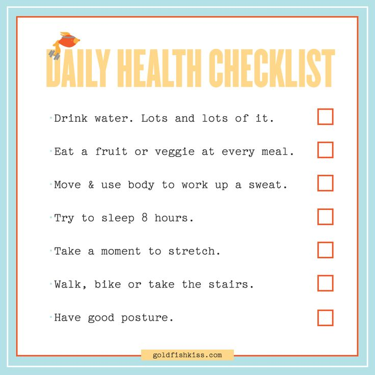 health checklist from goldfish kiss freedivers diet