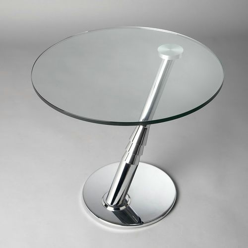 Superior Round Glass Coffee Table Metal Base