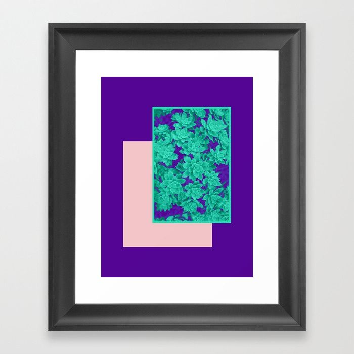 Buy Neon Aeonium #society6 #succulent Framed Art Print by designdn. Worldwide shipping available at Society6.com. Just one of millions of high quality products available.