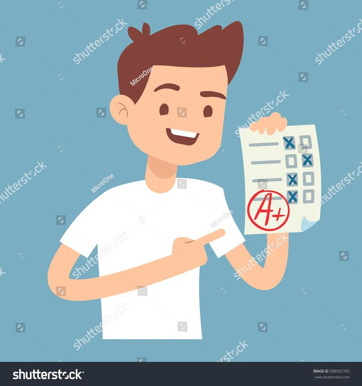 stock-vector-teen-student-holding-paper-with-perfect-school-exam-test-vector-illustration-588502703.jpg 1500×1600 пикс