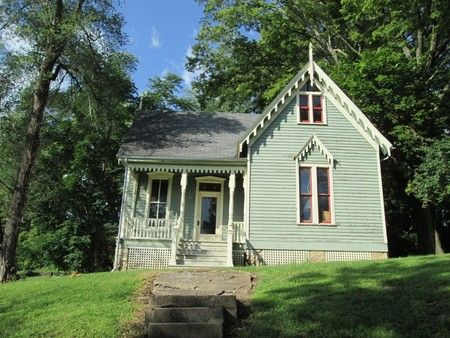 1860 Gothic Revival - Marvelous Gothic Fantasy in Clarksville, Missouri - OldHouses.com