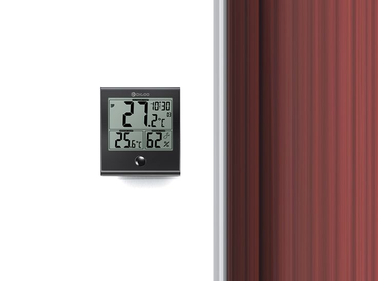 Digoo DG-TH1180 Home Comfort Indoor and Outdoor Glass Panel Thermometer Hygrometer Humidity Monitor