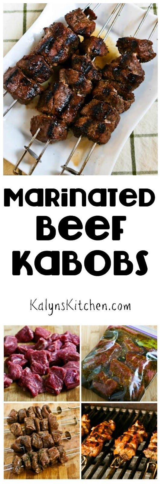 Marinated Beef Kabobs found on KalynsKitchen.com