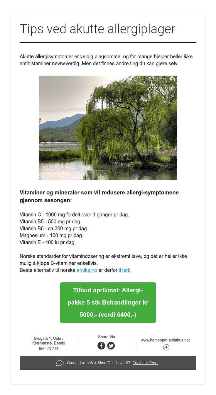Tips ved akutte allergiplager