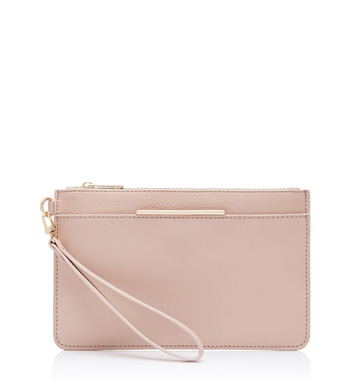 Kira Zip Top Pouch Nude - Womens Fashion | Forever New