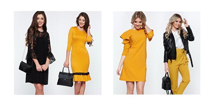 Noua colectie The New Black: Mustard de la Strashiners! Pentru toate stilurile. Tu pe care il alegi? Cumpara online prin Cashback Shopping si pimesti inapoi 5% din valoarea comenzii!  #starshiners #nouacolectie #fahion #cashbackshopping #baniinapoi #cumparaturionline #primesticashback