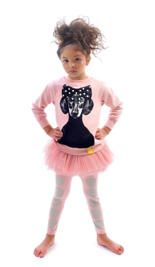 Betty Sweatshirt and Big Top Tights in musk | Rock Your Kid winter 2014 | www.rockyourbaby.com