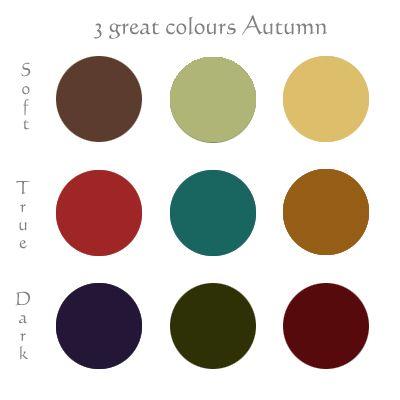 Pure Autumn Color Palette (Warm Autumn)   Autumn color palette and ...