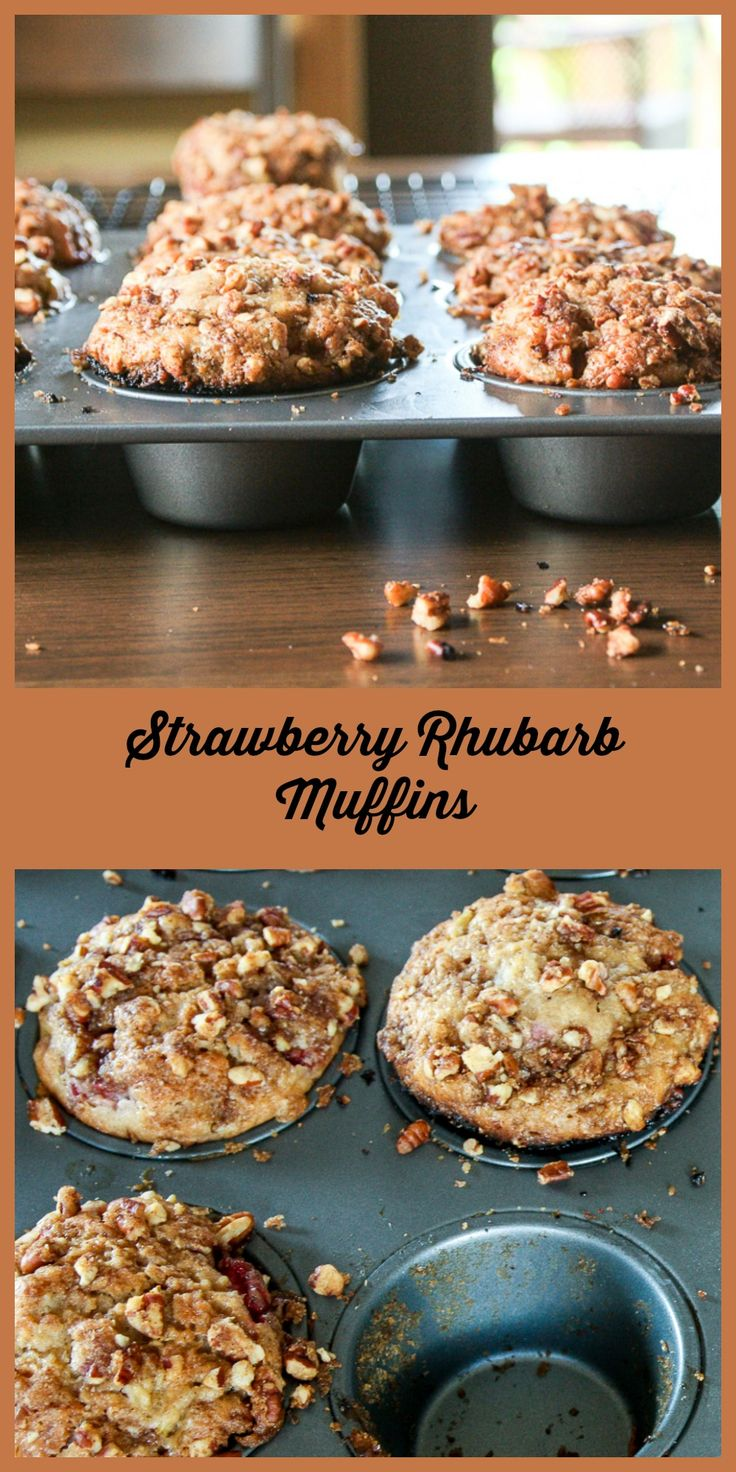 Strawberries an Rhubarb are the perfect sweet and tart combination in these amazing muffins.