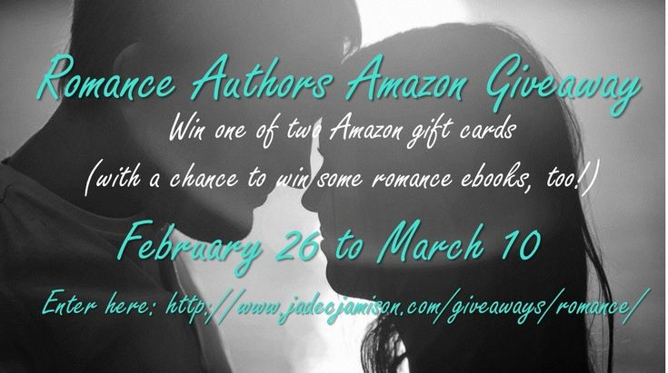 Romance Authors Amazon Giveaway http://www.jadecjamison.com/giveaways/romance/?lucky=420 via @JadeCJamison AMAZON GIFT CARD  ENDS 3/10