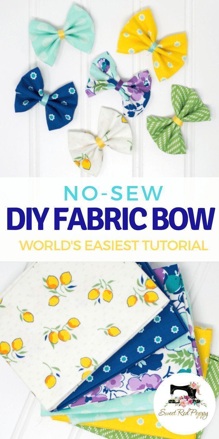 No-Sew Girls Fabric Hair Bows