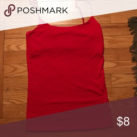 Red Cami! Red cami that is great to wear under things or on its own! Only worn once! Great condition! Red Camel Tops Camisoles