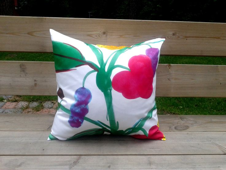 Pillow cover made from Marimekko fabric, pillow case, pillow sham, throw pillow cover, cushion cover, Scandinavian pillow by NordicCrafter on Etsy