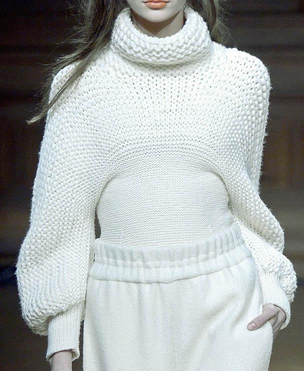 Mixed gauge hand knit sweater