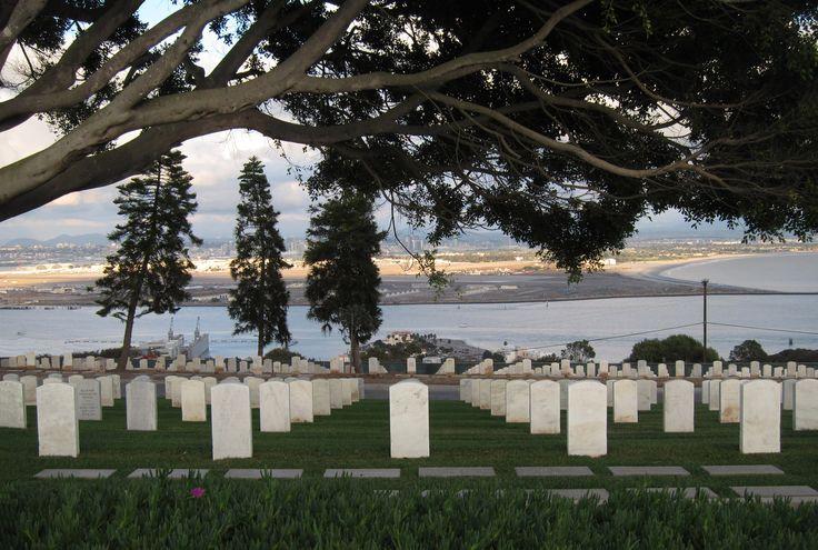 Fort Rosecrans National Cemetery overlooking San Diego Harbor