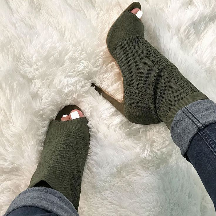 Knit Stiletto Booties