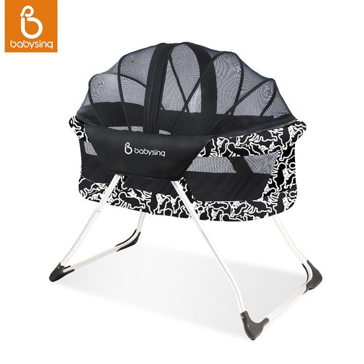 Babysing Taşınabilir Bebek Portbebe Kolay Seyahat Taşımak Bebek Karyolası Uzay Tasarrufu Bebek Yatağı Anti-sivrisinek Cotbed
